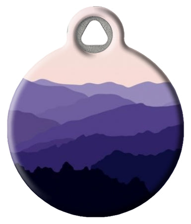 Beautiful abstract mountain landscape pet id tag