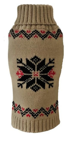 nordic-snowflake-dog-sweater