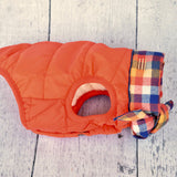 orange-baxter-bandana-puffer-jacket-side-view