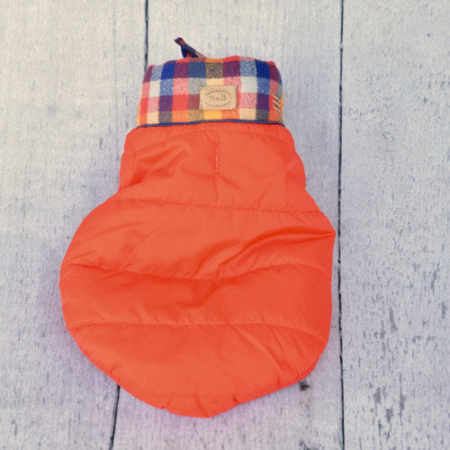 orange-baxter-bandana-puffer-jacket-top-view