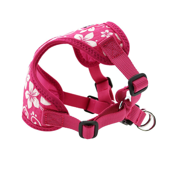 pink-hibiscus-wrap-and-snap-choke-free-dog-harness-side-view