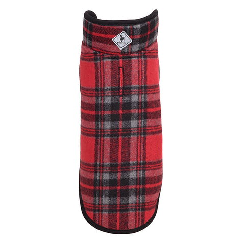 Red and Black Plaid Alpine Jacket