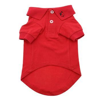 Solid Dog Polo Shirt - Flame Scarlet Red