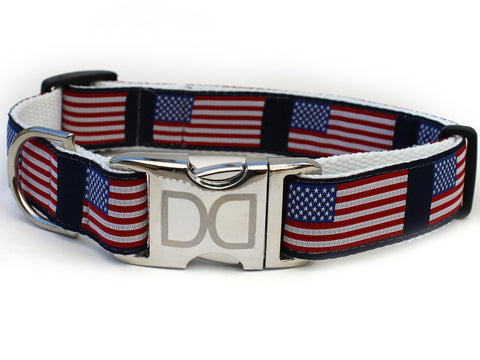 Stars n Stripes Dog Collar