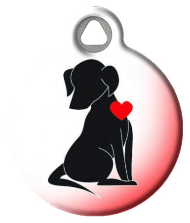 Tilly's Loving Dog Silhouette Pet ID Tag