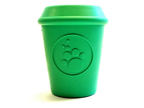 Treat Dispensing Coffee Cup for Power Chewers