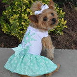 turquoise-crystal-dog-dress-with-matching-leash