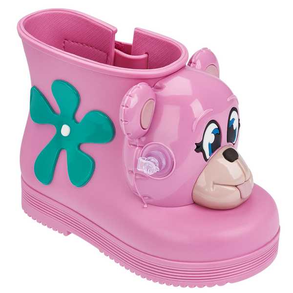 Mini Melissa Pink Taffy Monkey Rain Boot + Jeremy Scott