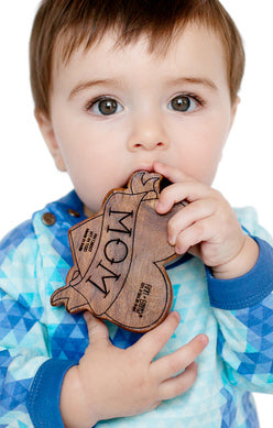 Finn + Emma Tattoo Wood Teether