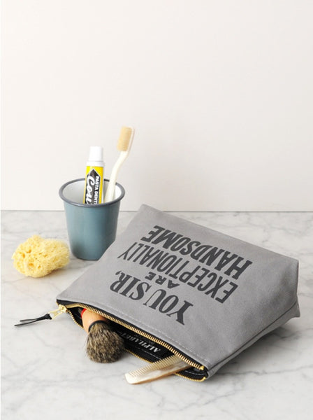 "Alphabet Bags ""Exceptionally Handsome"" Wash Bag"