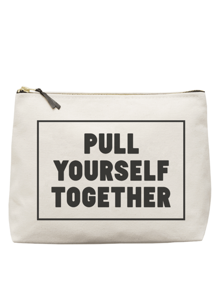 "Alphabet Bags ""Pull Yourself Together"" Wash Bag"