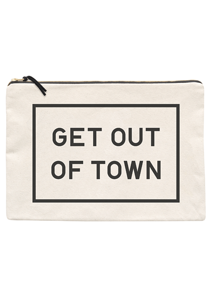 "Alphabet Bags ""Get out of Town"" XL Pouch"