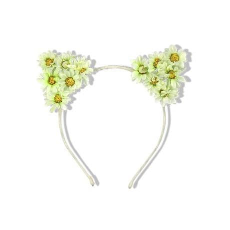 Milk & Soda White Daisy Kitty Headband