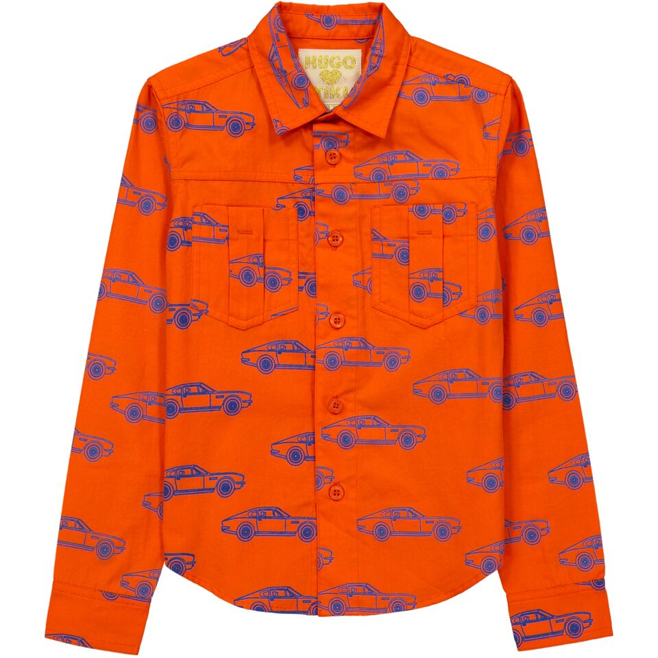 Hugo Loves Tiki Cars Collard Shirt
