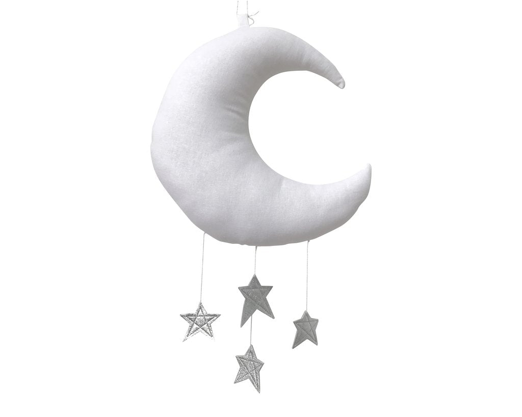 Baby Jives Luxe Moon With Silver Stars Mobile
