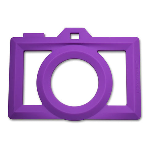 Little Standout Purple Silicone Camera Teether
