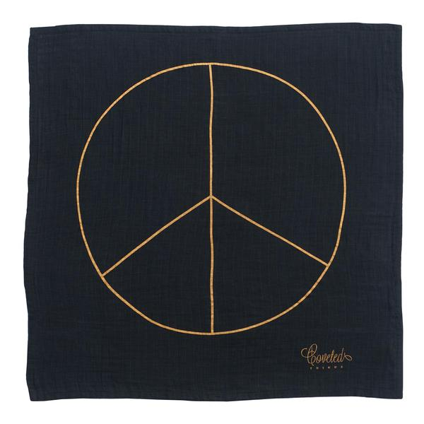 Coveted Things 'Peace' Charity Organic Swaddle Blanket For Alliance Of Moms