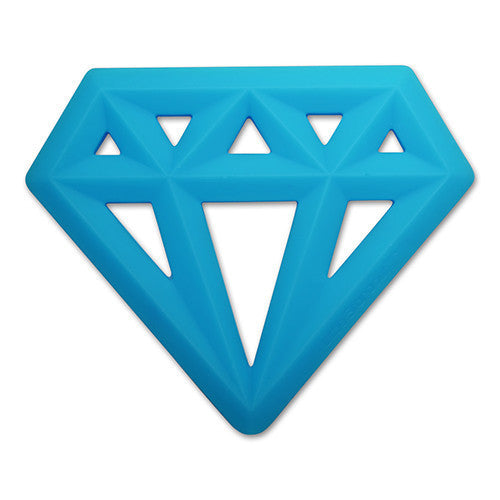 Little Standout Blue Silicone Diamond Teether