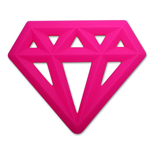 Little Standout Pink Silicone Diamond Teether