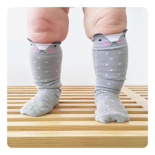 Little Pop Studio Knee High Bear Socks