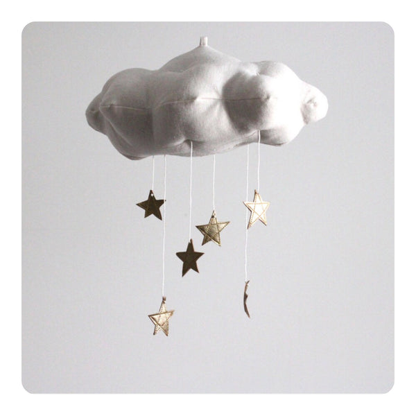 Baby Jives Gold Star Cloud Mobile