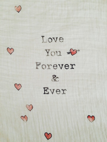 Coveted Things 'Love You Forever & Ever' Organic Swaddle Blanket