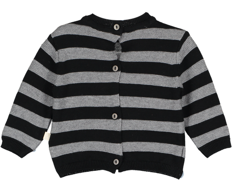 Beau LOves Mini Siblings Tricot Reversible Sweater-Cardigan