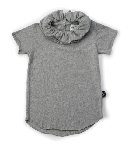 Nununu Heather Grey Victorian Top