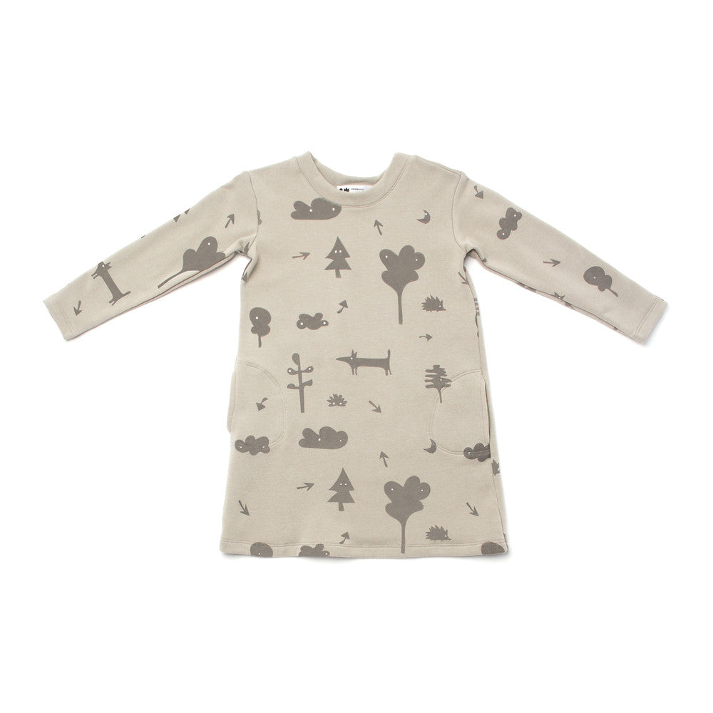 OMAMImini Sweatshirt Dress With Secret Forest Print