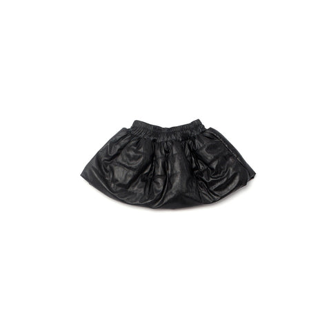 OMAMImini Faux Leather Quilted Skirt