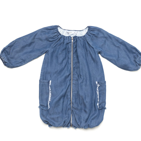OMAMImini Bubble Fringed Denim Jacket