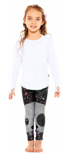Terez Crystal Emoji Dog Leggings Kids