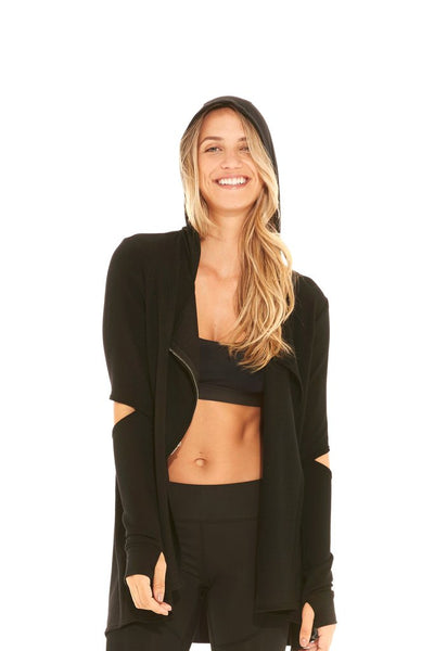 Terez French Terry Elbow Drape Jacket