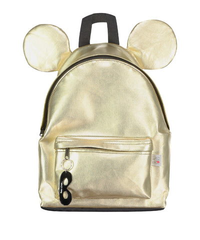 Beau LOves Faux Gold Leather Backpack With Ears