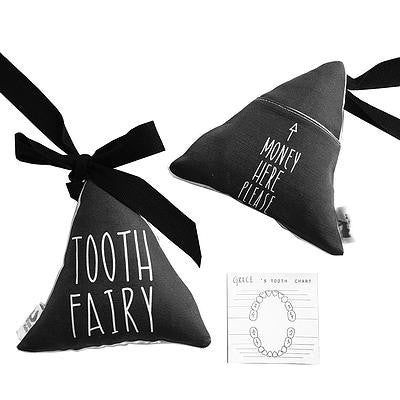 Macaroon Kids Black Triangle Tooth Fairy Pillow