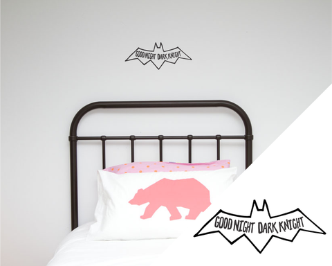 One Hundred Percent Heart & Little Pop Studio Collaboration Dark Knight Wall Decal