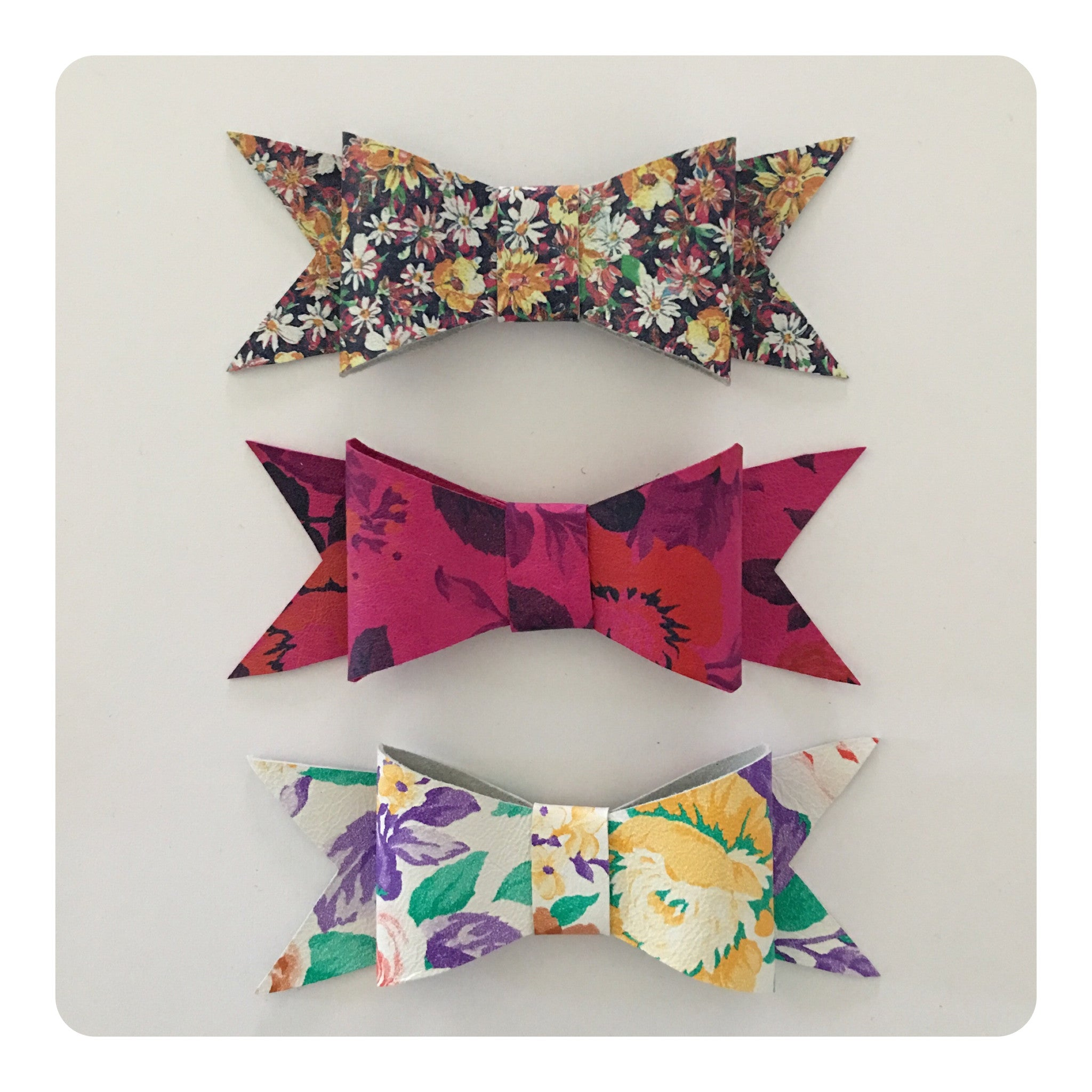 Carolina Rodriguez Leather Bows