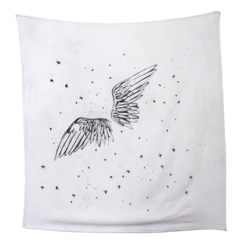 Baby Jives Angel Wings Organic Cotton Swaddle Blanket