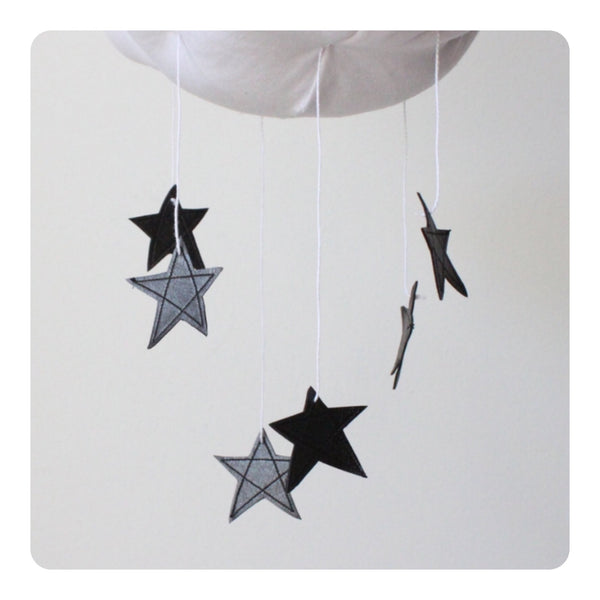 Baby Jives Graphite Black Star Cloud Mobile