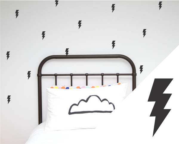 One Hundred Percent Heart Lightning Bolts Wall Decal