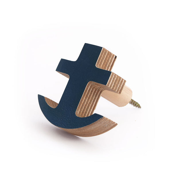 The Hook Co. Navy Blue Little Anchor Wall Hook