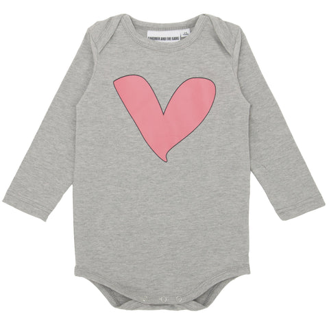 Gardner and the Gang Heart Romper