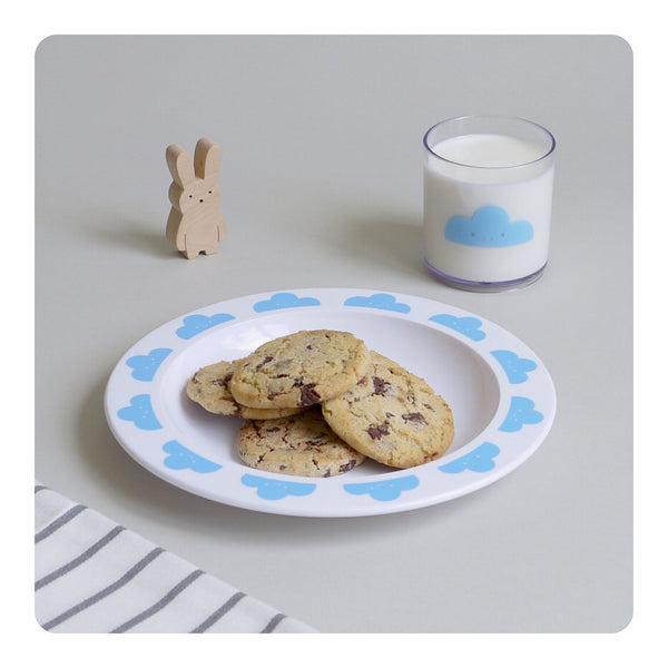 Buddy + Bear Happy Clouds Plastic Plate