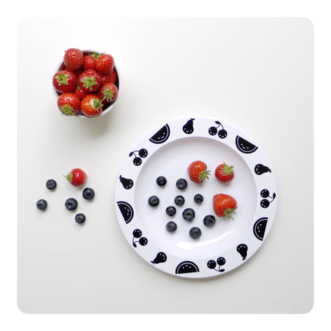 Buddy + Bear Fruit Friends Plastic Plate