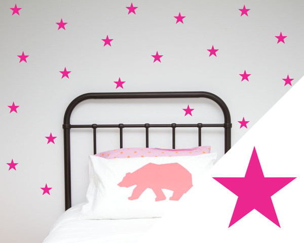 One Hundred Percent Heart Stars Wall Decal