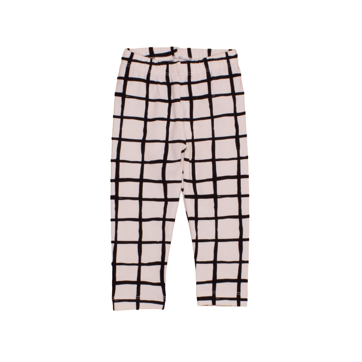 Noé & Zoë Black Grid Baby Leggings