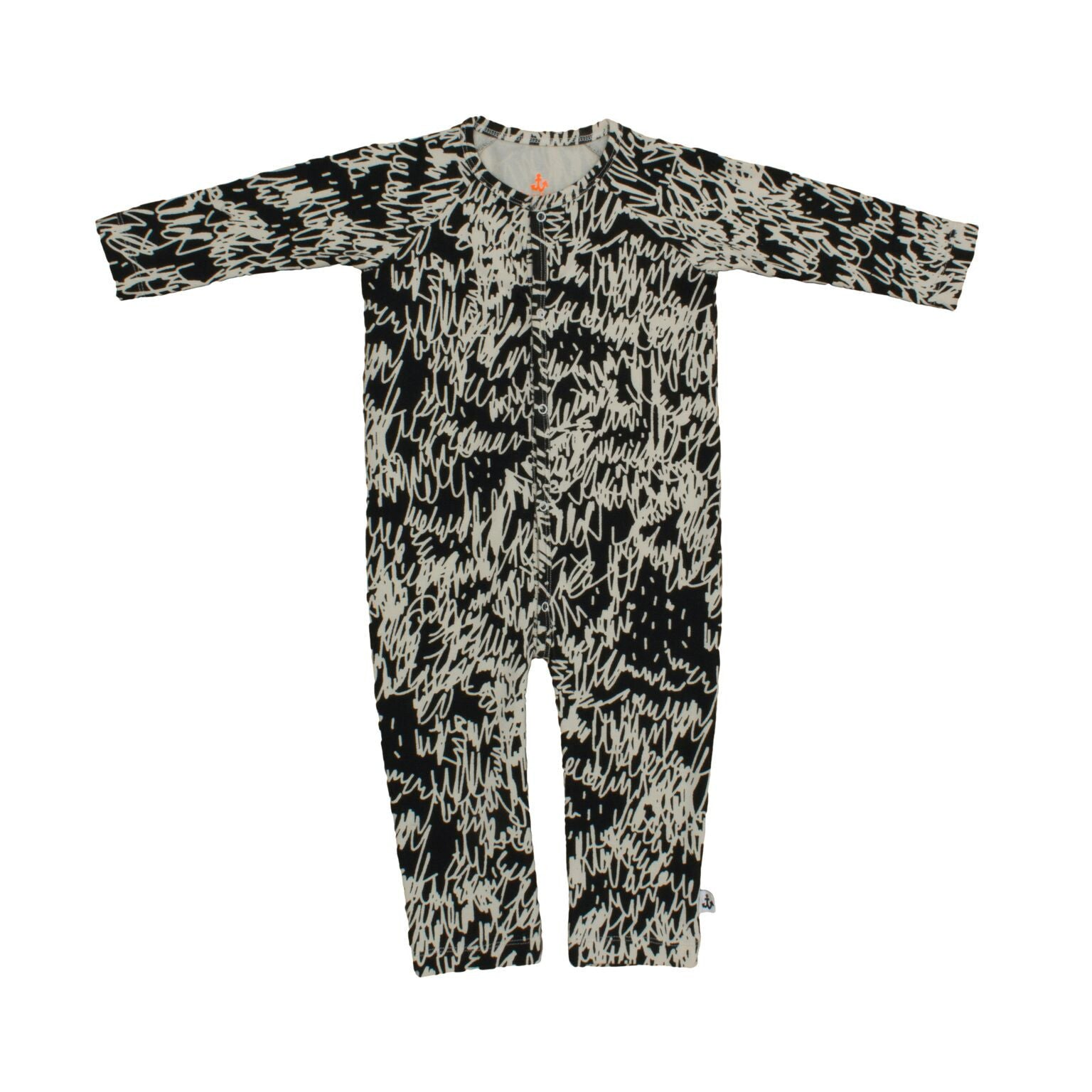 Noé & Zoë Black Scribble Playsuit
