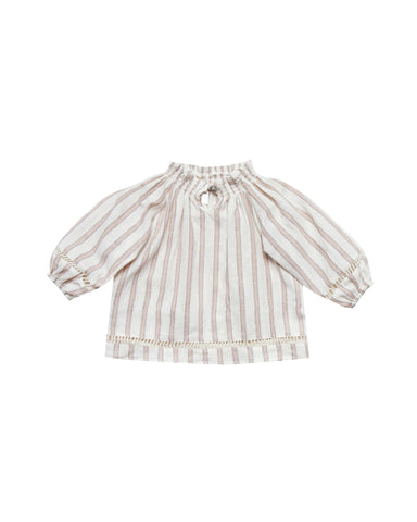 Rylee + Cru Truffle Stripes Quincy Blouse