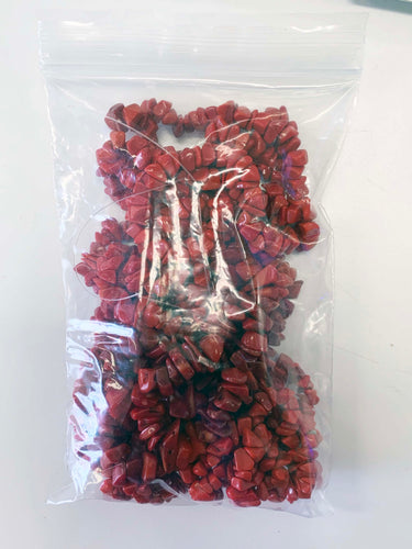 Bag of 9 Coral Chip Necklaces