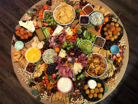 Party table served with gluten free dipping sauce flavors